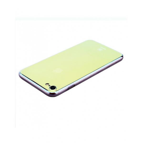 Carcasa protectie spate BASEUS din plastic cu suprafata oglinda pentru iPhone 7 Plus, gold 3