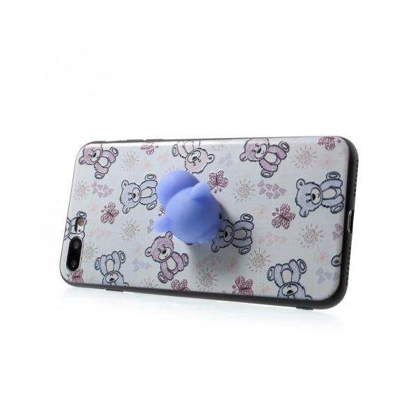 Carcasa protectie spate cu urs Squishy pentru iPhone 7 Plus / iPhone 8 Plus 1