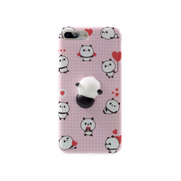 Carcasa protectie spate cu panda Squishy pentru iPhone 7 Plus / iPhone 8 Plus 0