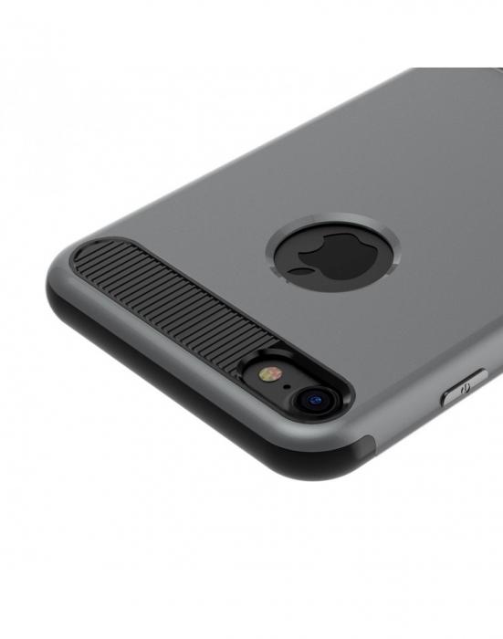 Carcasa protectie spate BASEUS din plastic si gel TPU cu suport pentru iPhone 7 Plus 5.5 inch, gri 7