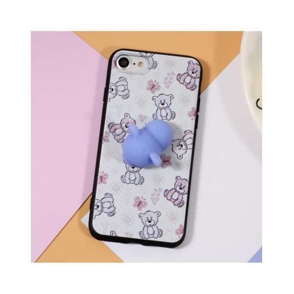 Carcasa protectie spate cu urs Squishy pentru iPhone 7 / iPhone 8 2