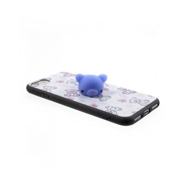 Carcasa protectie spate cu urs Squishy pentru iPhone 7 / iPhone 8 3