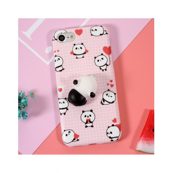 Carcasa protectie spate cu panda Squishy pentru Iphone 7 / iPhone 8 1