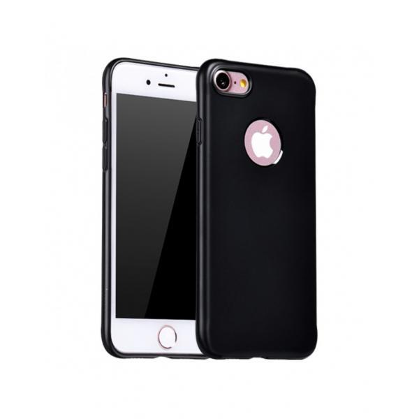 Carcasa protectie spate cu suprafata mata pentru iPhone 7 Plus, neagra 0
