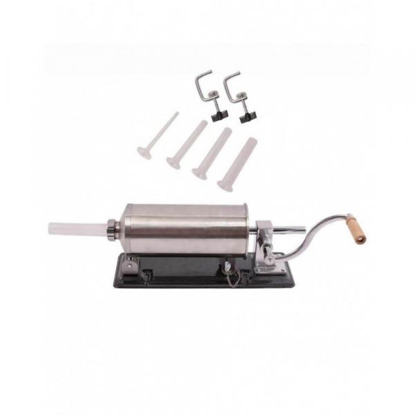 Masina manuala de facut carnati orizontala, inox , 5.5kg, 5 palnii incluse 2