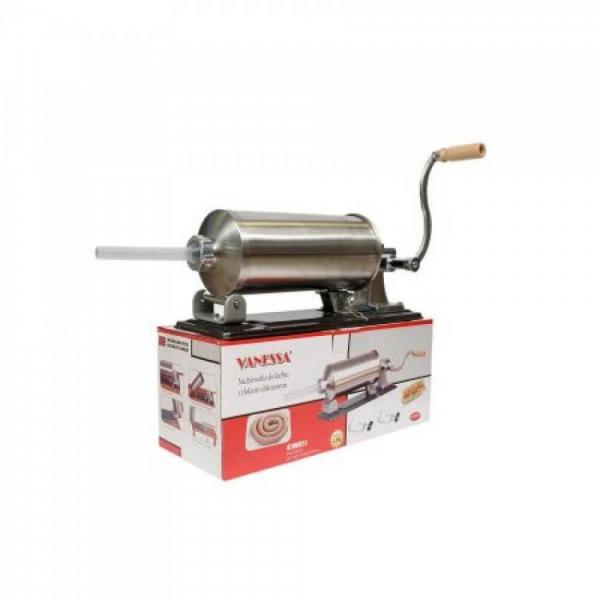 Masina manuala de facut carnati orizontala, inox , 5.5kg, 5 palnii incluse 3
