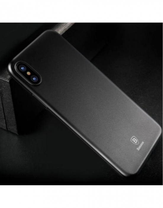Carcasa protectie spate din plastic pentru iPhone X/Xs 5.8 inch, transparenta 1
