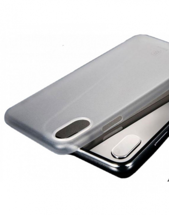 Carcasa protectie spate din plastic pentru iPhone X/Xs 5.8 inch, transparenta 0