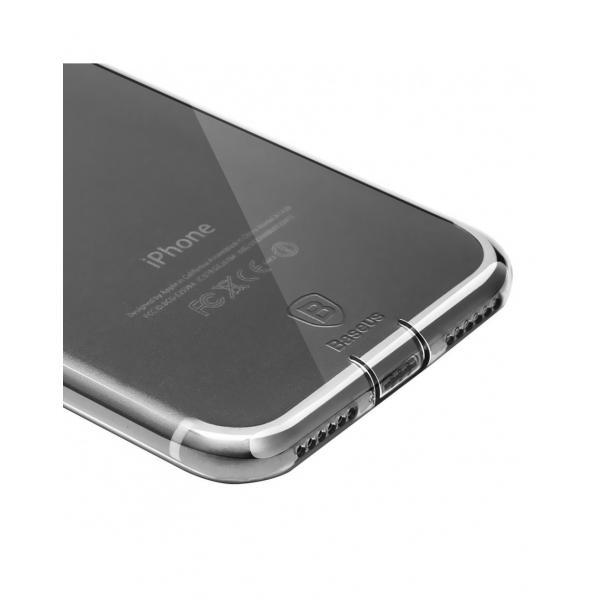 Carcasa protectie spate BASEUS cu dopuri anti-praf pentru iPhone 7, neagra 1