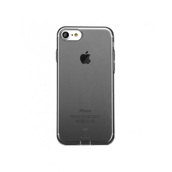 Carcasa protectie spate BASEUS cu dopuri anti-praf pentru iPhone 7, neagra 3