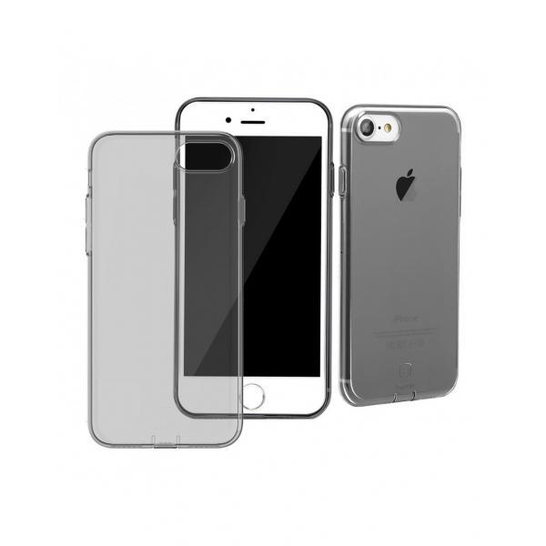 Carcasa protectie spate BASEUS cu dopuri anti-praf pentru iPhone 7, neagra 0