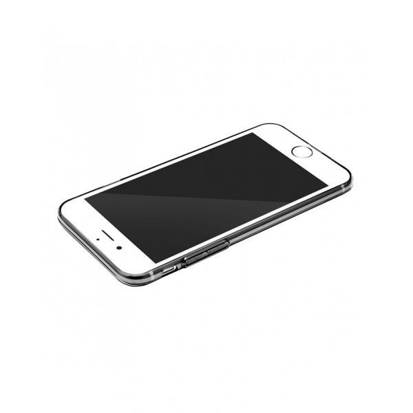 Carcasa protectie spate BASEUS cu dopuri anti-praf pentru iPhone 7, neagra 2