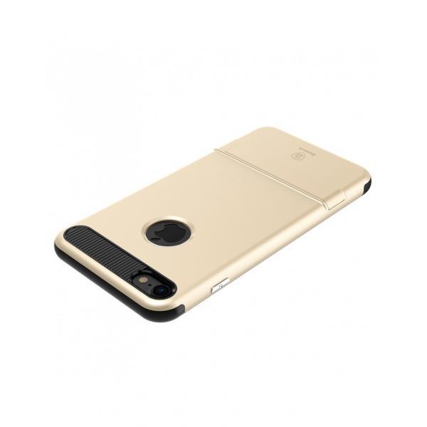 Carcasa protectie spate BASEUS din plastic si gel TPU cu suport pentru iPhone 7 4.7 inch 2