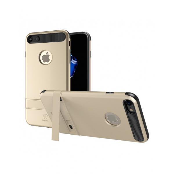 Carcasa protectie spate BASEUS din plastic si gel TPU cu suport pentru iPhone 7 4.7 inch 0