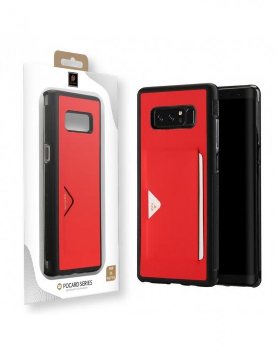 Carcasa protectie spate cu suport pentru card pentru Samsung Galaxy Note 8 3