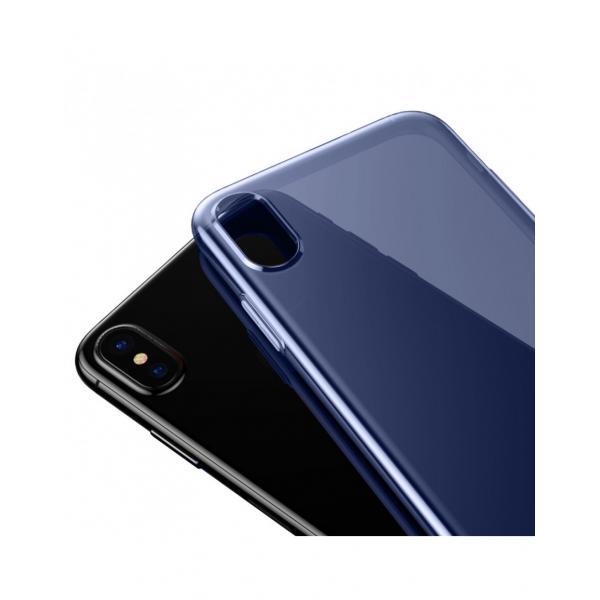 Carcasa protectie spate din gel TPU cu dopuri anti-praf pentru iPhone X 5.8 inch - amipus.ro 1