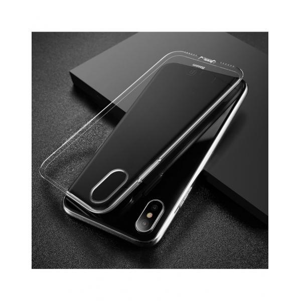Carcasa protectie spate din gel TPU cu dopuri anti-praf pentru iPhone X 5.8 inch - amipus.ro 4