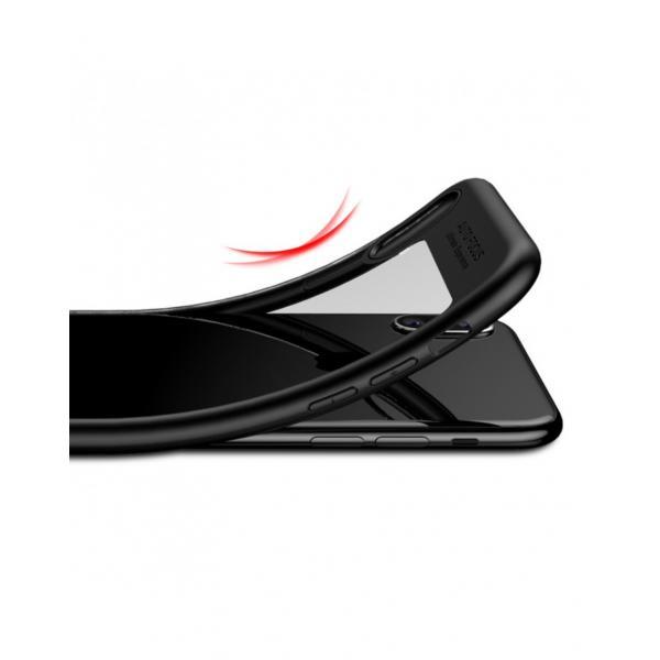 Carcasa protectie spate din gel TPU si acrilic pentru iPhone X 5.8 inch - amiplus.ro