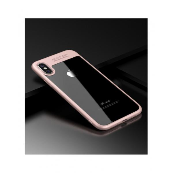 Carcasa protectie spate din gel TPU si acrilic pentru iPhone X 5.8 inch - amiplus.ro 0