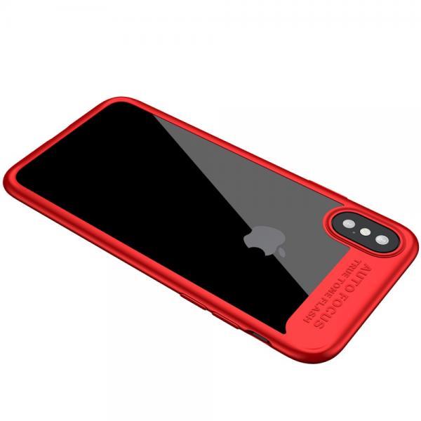 Carcasa protectie spate din gel TPU si plastic pentru iPhone X 5.8 inch 3