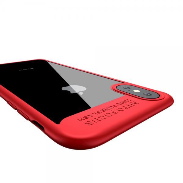 Carcasa protectie spate din gel TPU si plastic pentru iPhone X 5.8 inch 4