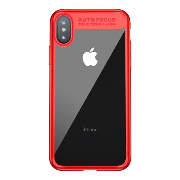 Carcasa protectie spate din gel TPU si plastic pentru iPhone X 5.8 inch 1