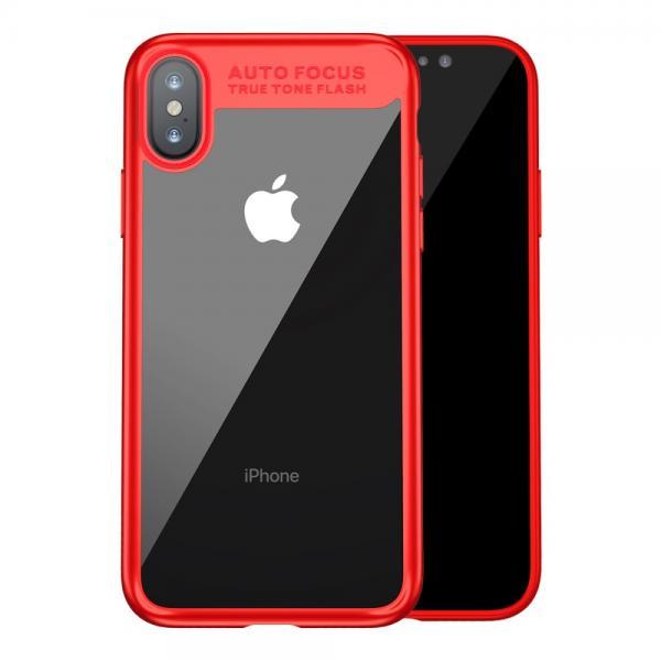 Carcasa protectie spate din gel TPU si plastic pentru iPhone X 5.8 inch 0