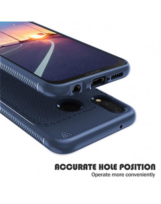 Carcasa protectie spate din piele ecologica si gel TPU pentru Huawei P20 Lite 1