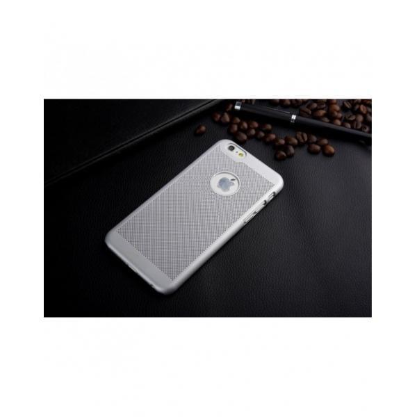 """Carcasa protectie spate din plastic mesh pentru Iphone 6 Plus 5.5"""" - gri 1"""