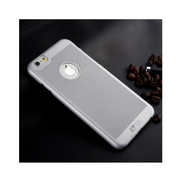 """Carcasa protectie spate din plastic mesh pentru Iphone 6 Plus 5.5"""" - gri 0"""