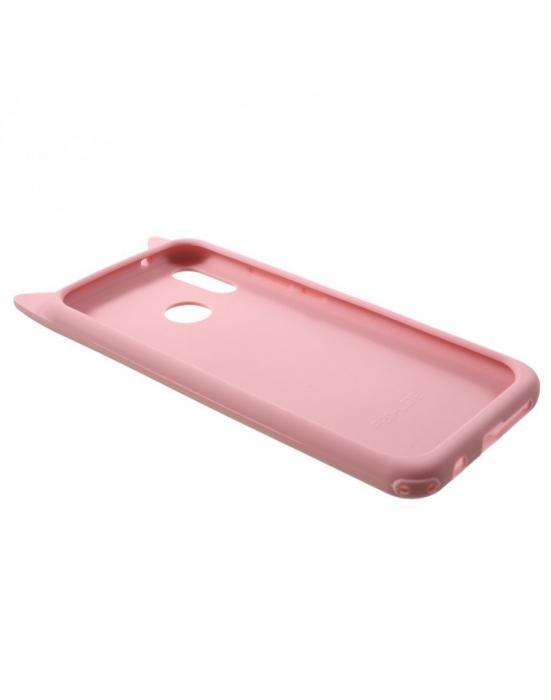 Carcasa protectie spate pisica pentru Huawei P20 Lite 3