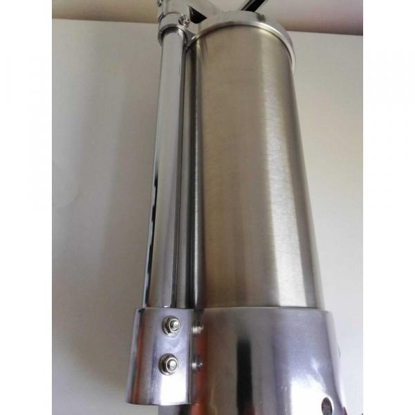 Aparat de umplut carnati vertical, inox, 5.5kg, 6 palnii incluse 5
