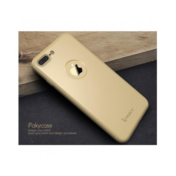 Husa protectie completa IPAKY pentru iPhone 7 Plus 5.5 inch, gold 2