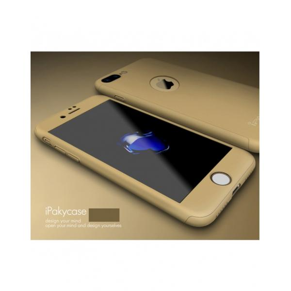 Husa protectie completa IPAKY pentru iPhone 7 Plus 5.5 inch, gold 3