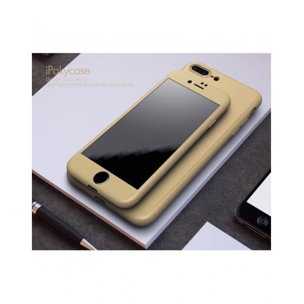 Husa protectie completa IPAKY pentru iPhone 7 Plus 5.5 inch, gold 1
