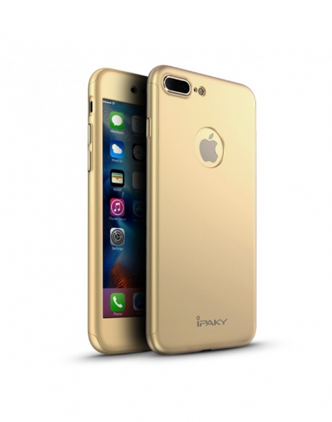 Husa protectie completa IPAKY pentru iPhone 7 Plus 5.5 inch, gold 0