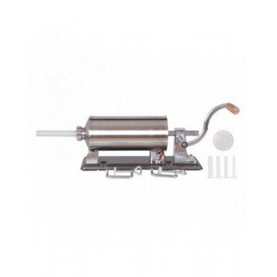 Masina manuala de facut carnati orizontala, inox , 4kg, 4 palnii incluse 4