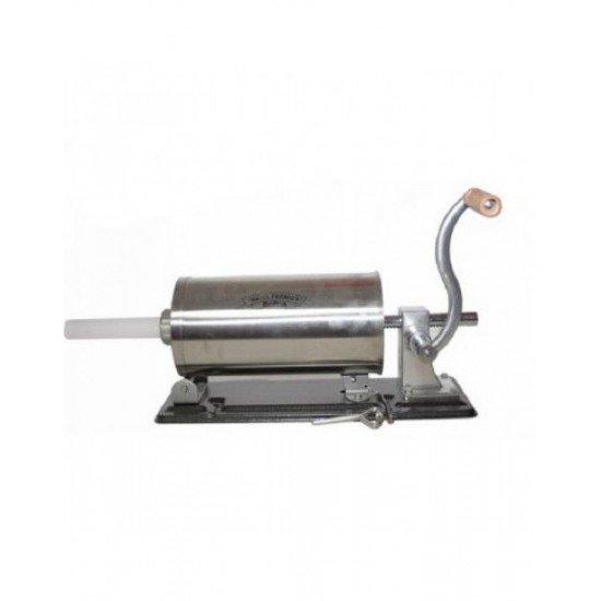 Masina manuala de facut carnati orizontala, inox , 4kg, 4 palnii incluse 3
