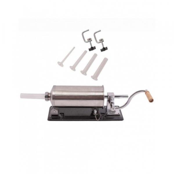 Masina manuala de facut carnati orizontala, inox , 4kg, 4 palnii incluse 0