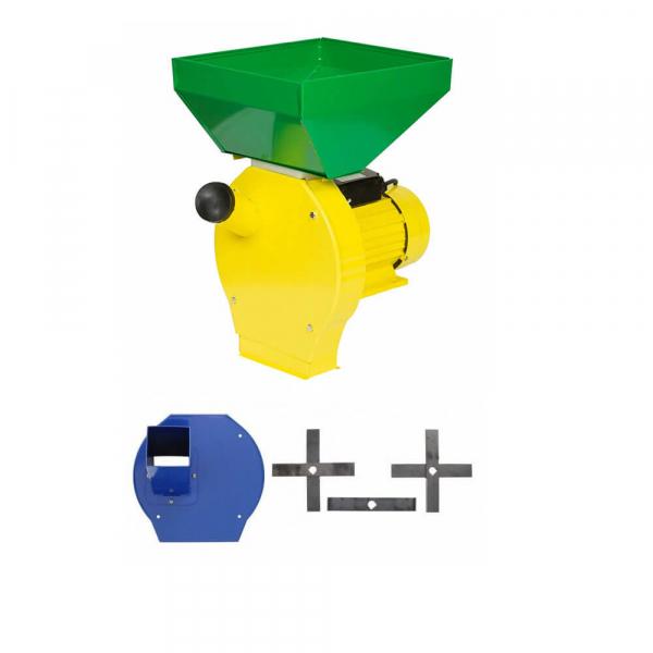 Moara cu ciocanele 3 in 1 (boabe, stiuleti, lucerna) PROCRAFT ME3500, Cuva Mare, 3500W, 200kg/h, 3000 rpm [0]