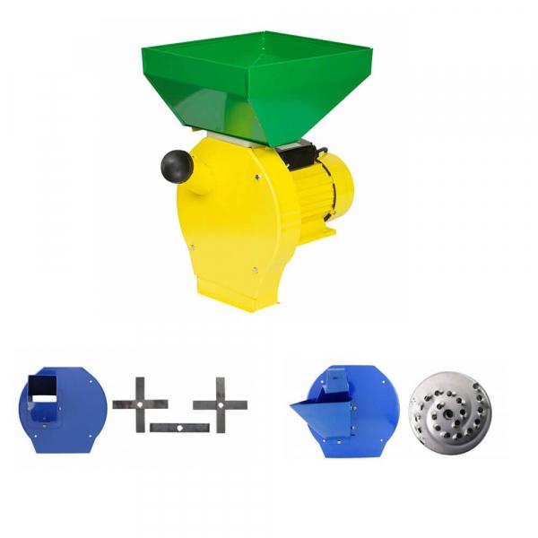 Moara cu ciocanele 3 in 1 (boabe, stiuleti, fructe, lucerna) PROCRAFT ME3500, Cuva Mare, 3500W, 200kg/h, 3000 rpm 0