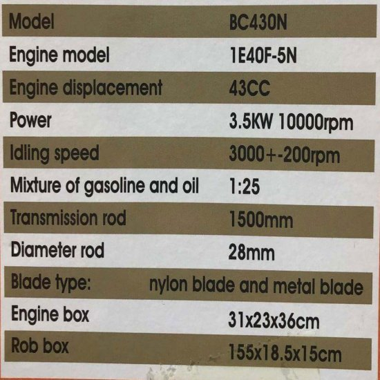 Motocoasa PANDORA 430N, 4CP, 10.000RPM +2 Sisteme Taiere [6]