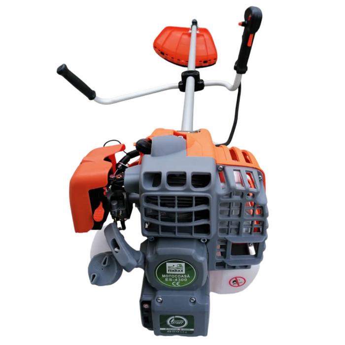 Motocositoare pe benzina Fermax ES-4300, cu pornire electrica si manuala, 4.7 CP, 9000 rpm, 8 accesorii incluse [5]