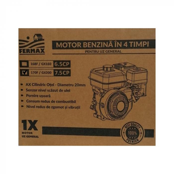 Motor benzina uz general, FERMAX, GX200, 7CP, ax cilindric 20mm [4]