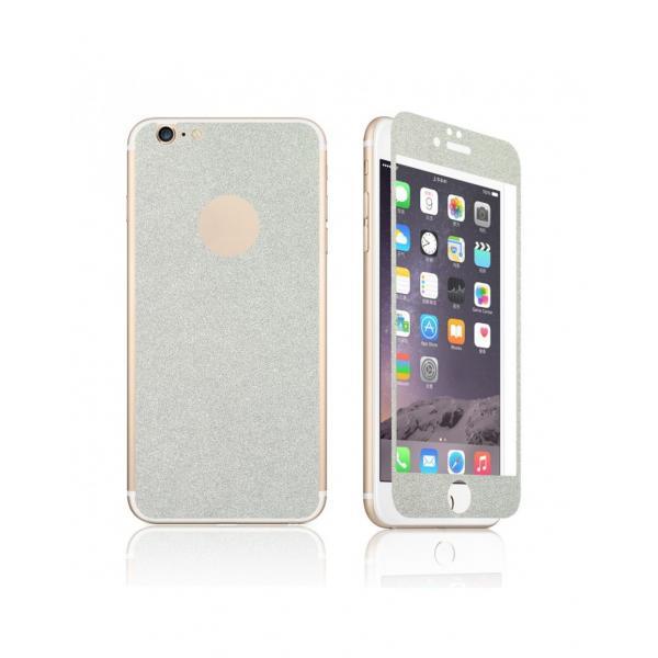 Pachet sticla securizata fata si sticker pentru spate cu sclipici pentru iPhone 6 Plus / 6s Plus 5.5 inch 0
