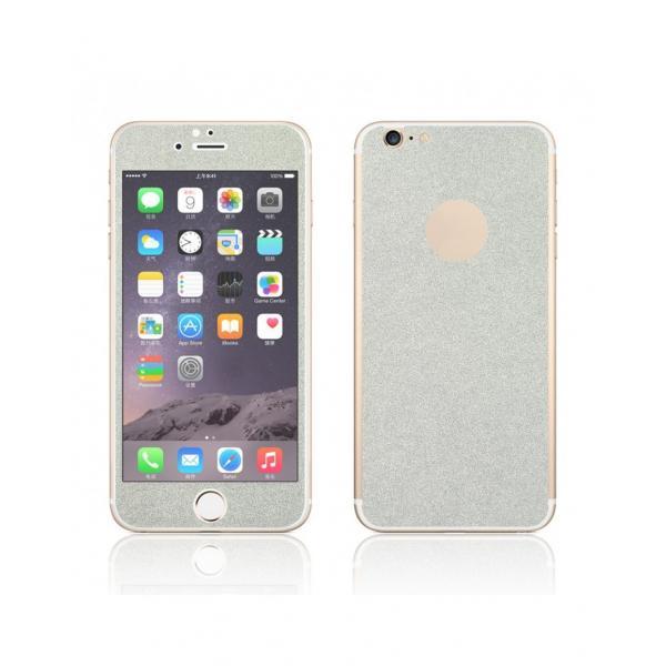 Pachet sticla securizata fata si sticker pentru spate cu sclipici pentru iPhone 6 Plus / 6s Plus 5.5 inch 1