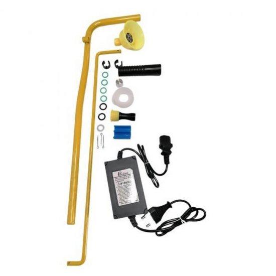 Pompa de stropit 2 in 1 (baterie + manuala), 16L, Pandora + Atomizor electric portabil Pandora + Lance extensibila telescopica Inox 230 cm 2