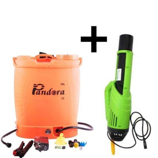Pompa electrica pentru stropit cu acumulator, 18 litri, Pandora + Atomizor electric portabil Pandora [0]