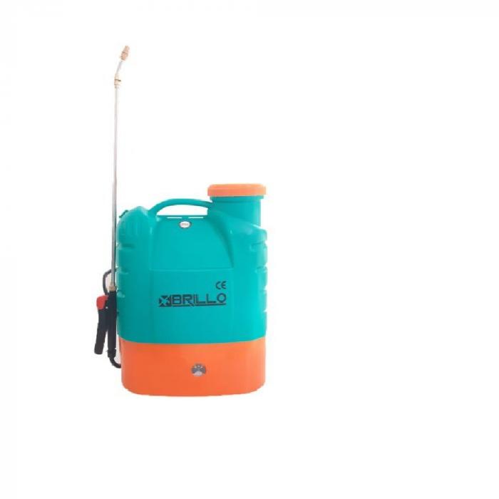 Pompa stropit gradina electrica Brillo, 16 litri, acumulator, 5.5 bar + Atomizor electric portabil Pandora 0