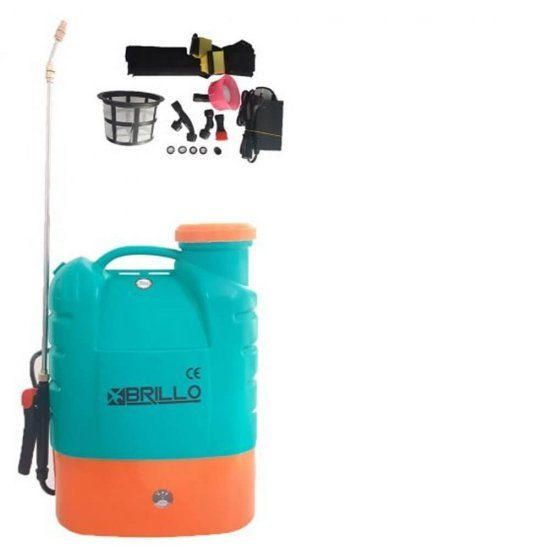 Pompa stropit gradina electrica Brillo, 16 litri, acumulator, 5.5 bar + Atomizor electric portabil Pandora 2